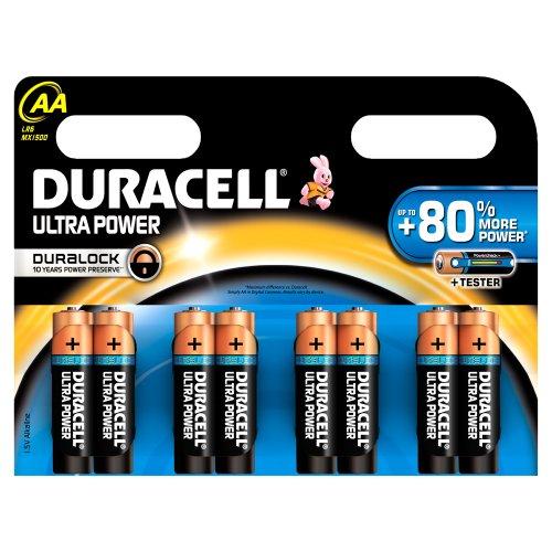 Duracell - Pile Alcaline - Duralock AA x 8 Ultra Power (LR6)