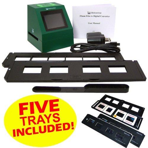 51D0uxZtf4L. SL500  Wolverine F2D14 14 MP 35mm Slides and Negatives to Digital Image Converter (Includes 5 Total Trays: 4 Silde Trays  &  1 Negative Film Tray) 110V 220V