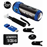iON AIR PRO Full HD Sports Action Camcorder + iON CamLock & Podz + LexSpeed 16GB Card + Monopod