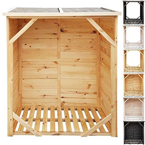 proheim kaminholz regal xxl 162x128x72cm in natur mit. Black Bedroom Furniture Sets. Home Design Ideas