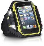 XtremeMac iPhone5/iPod touch(第5世代)対応 夜間のランニングやサイクリングに最適なLEDライト付スポーツアームバンド スポーツラップシリーズ ブラック IPP-LSWN-13