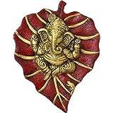 Jaipur Crafts Metal Patta Ganesh Wall Hanging Multicolour Showpiece Figurine (Red)