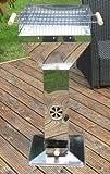 Trichtergrill Edelstahl mit Grillrost, Säulen Trichter Stand Barbeque Grill Rost (LHS)