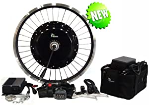 Electric Tricycle Conversion Kit System - 26 Inch Front Wheel 500 Watt Motor with 36 Volt - 12 Amp Hour Battery Pack!