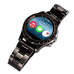 Porch-O S2 Wearables Smart Watch , Touch Screen/Hands-Free Calls/Media Control/Heart Rate monitor/Sleep Tracter /Pedometer