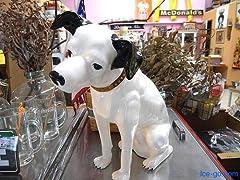 ニッパー犬 フィギュア ポリ塩化ビニール製(PVC) ビクター 高さ43cm