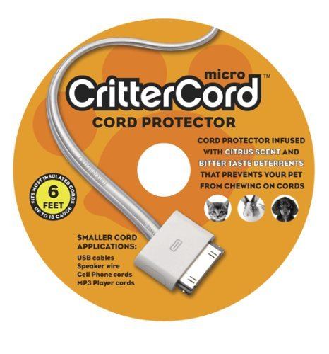 Cord Protector - Crittercord Micro - A New Way To Protect Your Pet From Chewing Hazardous Cords