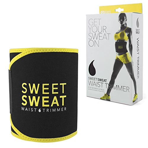 No1 Rated Sweet Sweat Premium Waist Trimmer, for Men & Women. Includes Free Sample of Sweet Sweat Workout Enhancer!