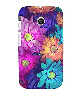 printtech Beautiful Flowers Back Case Cover for Motorola Moto E XT1021 / Motorola Moto E (1st Gen)