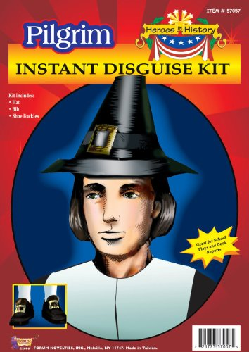 Forum unisex-child Pilgrim Man Hat,Collar & Shoe Buckle Pilgrim Costume Kit
