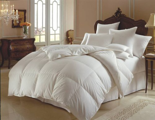 New 13.5 Tog King Size Goose Feather & Down Duvet Quilt, 25% DOWN (HIGHER DOWN=MORE LUXURY) With A Luxury Pure Cotton Casing, Box Constuction