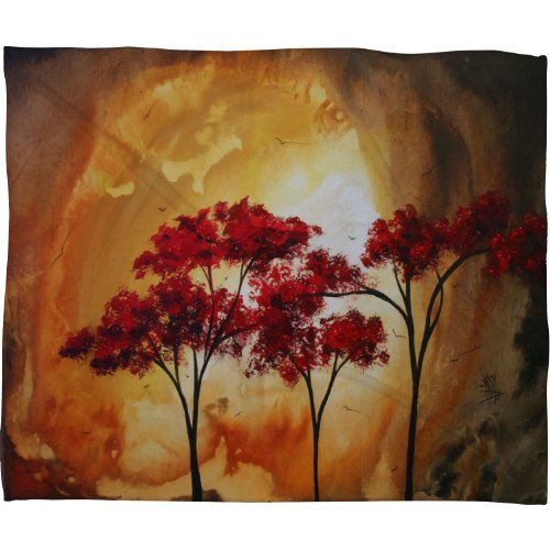 Deny Designs Madart Empty Nest 2 Fleece Throw Blanket, 60-Inch By 50-Inch front-926060