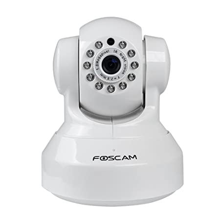 Foscam FI9816P Plug and Play 720P HD H.264 Wireless/Wired Pan/Tilt IP Camera, Night Vision and 120 Degree tilt,300 degree pan Viewing Angle (White) at amazon