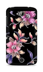 Amez designer printed 3d premium high quality back case cover for Acer Liquid Z530 (Flowers dark pattern)
