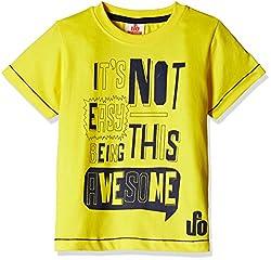 UFO Boys' T-Shirt (AW-16-KC-BKT-203_Yellow_10 - 11 years)