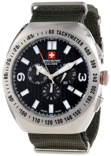 Swiss Military Calibre Men'S 06-4C2-04-007T6 Commando Khaki Green Tachymeter Chronograph Watch