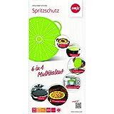 Emsa 514558 Spritzschutz, Ø 31 cm, Silikon, Grün, Smart Kitchen -