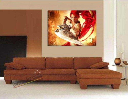 PS3 HEAVENLY SWORD GALLERY WRAP STYLE ARTWORK 28X20″