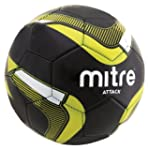 Mitre Attack Soccer Ball, Black/Yello...