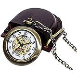 懐中時計*ブラスレトロアンティーク(スケルトン) ケース付き