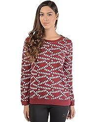 Bonhomie Women Sweatshirts [BONSW05_Burgundy_Extra Large]