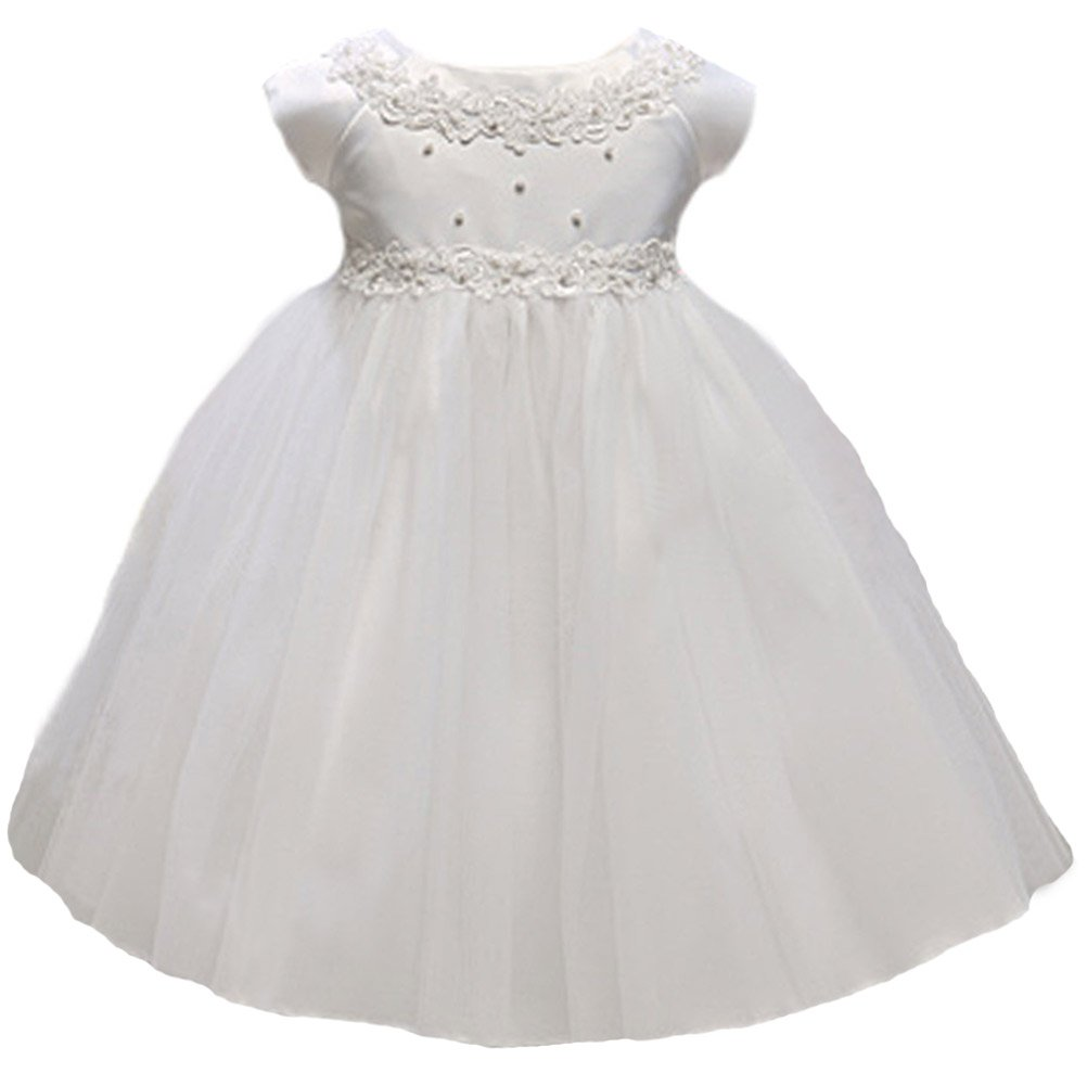 KID Collection Baby-Girls New Baby Princess Tulle Flower Girl Dress