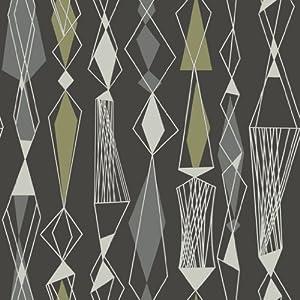 revival 5683 vlies tapete 60er jahre retro stil grau oliv wei anthrazit baumarkt. Black Bedroom Furniture Sets. Home Design Ideas
