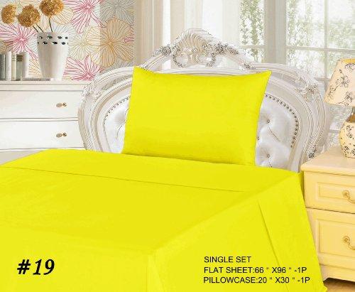 Tache 2 Piece 100% Cotton Single Yellow Flat Bed Sheet Set front-904418