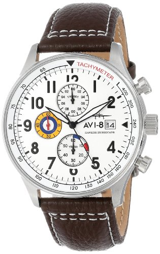 avi-8-mens-av-4011-01-hawker-hurricane-stainless-steel-watch-with-leather-band