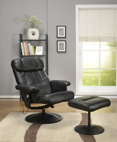 Swivel Recliner With Ottoman front-424574