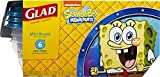 Sponge Bob Square Pants Glad Mini Round Snack Size Lunch Box Kids Fun Storage Containers 6 - Six BPA - Free 1/2 Cup 4 oz