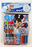 Disney Mickey Mouse28 School Supply Kit, 18 Pc.markers,stickers,crayons,pad