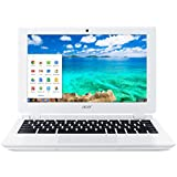 Acer Aspire CB3-111 11.6-inch Chromebook Laptop (White) - (Intel Celeron N2830 2.16GHz, 2GB RAM, 16GB eMMC, Integrated Graphics, Google Chrome)