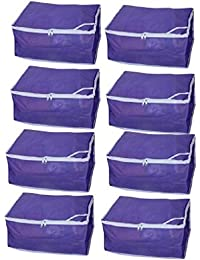 Kuber Industries Non Woven Saree Cover Set Of 8 Pcs /Wardrobe Organiser/Regular Clothes Bag