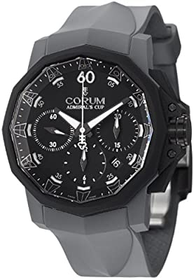 Corum Admiral's Cup Challenger 44 Chrono Men's Grey Rubber Strap Automatic Watch 753.819.02/F389 AN21 by Corum