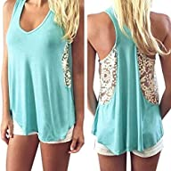 Mosunx Sexy Women Summer Lace Vest T…