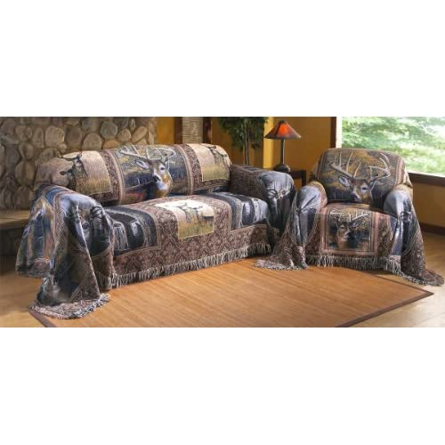 Amazon.com - Whitetail Deer Collage Furniture Throw, SOFA - Throw