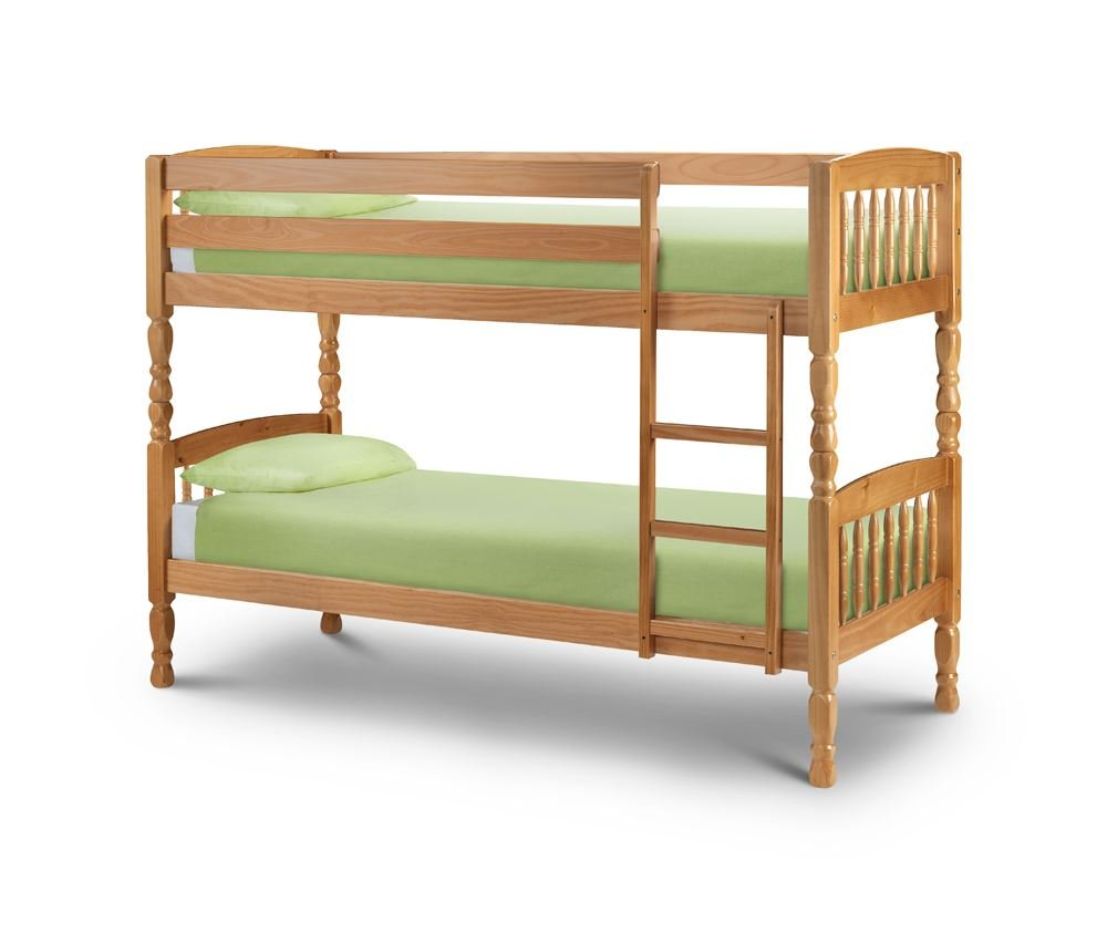 Happy Beds Lincoln Two Sleeper 3&' Solid Pine Wood Bunk Bed With 2x Luxury Spring Mattresses       Customer reviews and more information