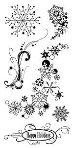 Inkadinkado Snowflakes Clear Stamps