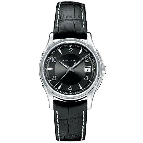 Hamilton H32411735 - Reloj de cuarzo para hombre, correa de cuero color negro