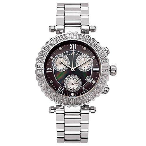 Reloj de mujer de Joe Rodeo Diamond - marina plata 0.9 CTW