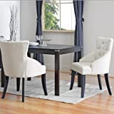 Baxton Studio Halifax Beige Linen Dining Chair, Set of 2