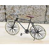 クラシックなミニチュア ブリキ 自転車 アンティーク仕上げ 置物