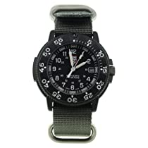 Luminox 3001 Navy Seal Dive Watch, Series 1, Black with Gray NATO Strap (3001.NATO.GRY)
