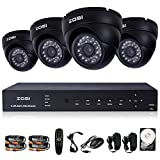 ZOSI 8 Channel Surveillance DVR 800tvl Outdoor Home Security Camera System with 500GB HDD