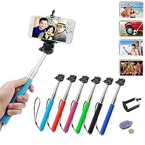 Often Autoportrait Photo Selfie Stick Perche Bâton avec le Bluetooth Retardateur Contrôleur de Déclencheur à Distance 3 en 1 pour iPhone 6 plus 5 5s 4 4s/ Samsung S6 S5 S4 S3/ LG/ HTC/ Nokia/ Huawei etc