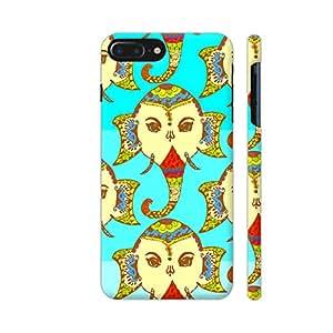Colorpur Lord Ganesha On Blue Artwork On Apple iPhone 7 Plus Cover (Designer Mobile Back Case) | Artist: Sangeetha