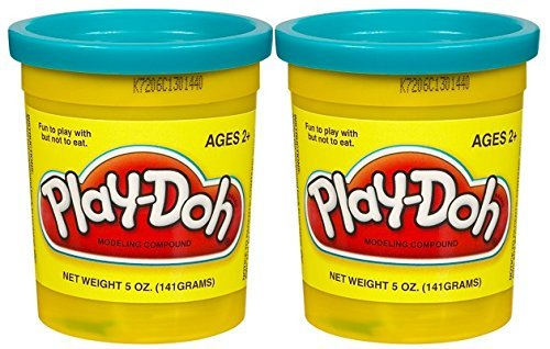 PLAY-DOH Compound Bright Blue - Two, 5 oz Cans (10 oz) - 1