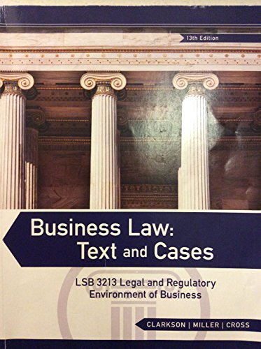 Business law cases solved
