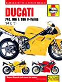 Ducati 748 996 Biposto Repair Manual Haynes Service Manual Workshop Manual 1995-2001